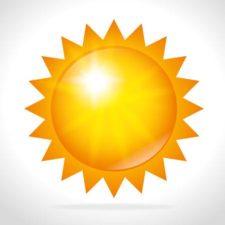 여름 태양 디자인, 벡터 그림 eps 10.