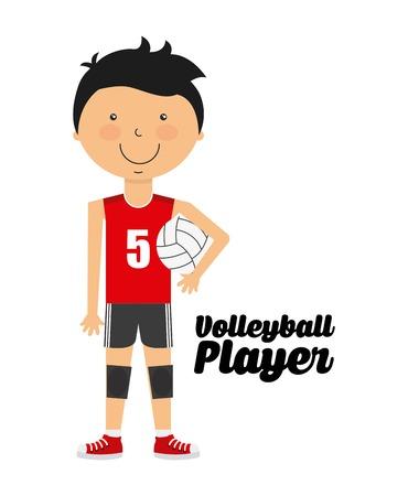 balon voleibol: diseño deportivo gente, ejemplo gráfico vectorial eps10