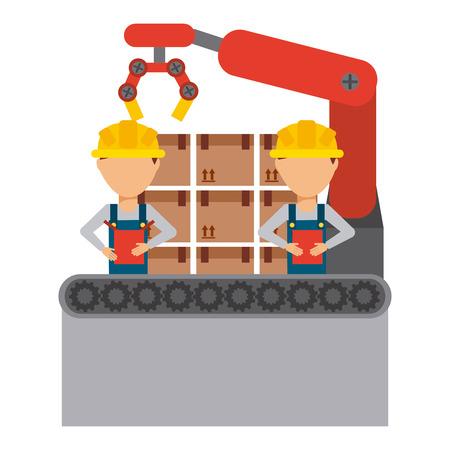 assembly line design, vector illustration eps10 graphic