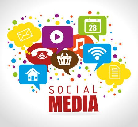 Diseño de medios de comunicación social, ilustración vectorial eps 10. Ilustración de vector