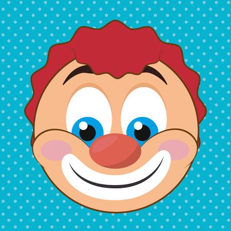 payasos caricatura: Diseño digital de la emoción, ilustración vectorial eps 10. Vectores