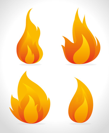 Fire digital design, vector illustration eps 10.