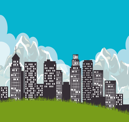 edifice: City urban design, vector illustration eps 10.