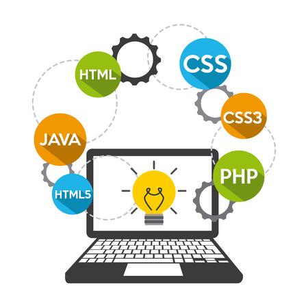 css3: software development design, vector illustration eps10 graphic Illustration
