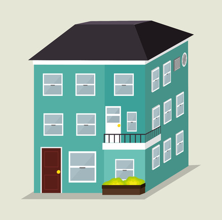 land development: Urban city design, vector illustration eps 10.