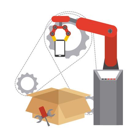 assembly line: assembly line design, vector illustration eps10 graphic