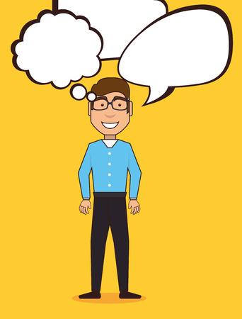 person thinking: Big idea design, vector illustration eps 10.