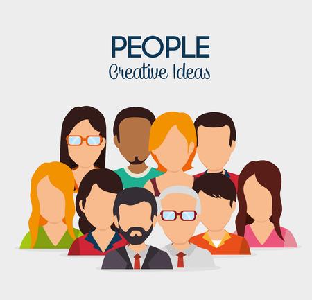La gente de diseño digital, ilustración vectorial.