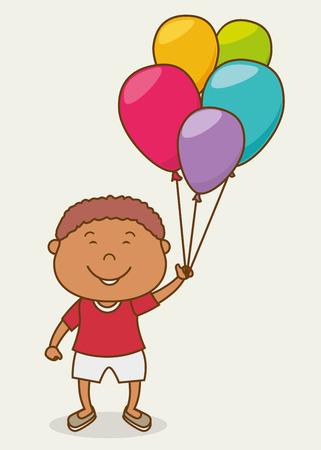 schoolkid: Happy kids design, vector illustration eps 10.