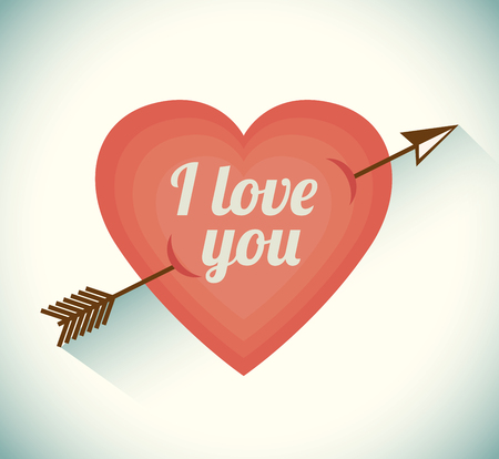 love you: Vintage retro design, vector illustration eps 10.