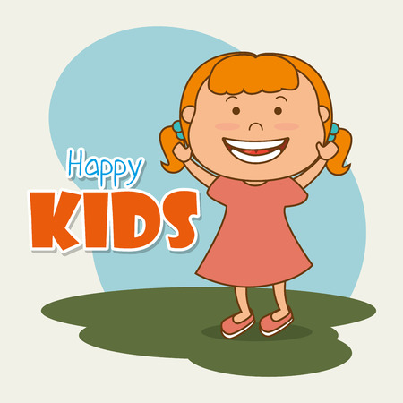 juniors: Happy kids design, vector illustration eps 10.