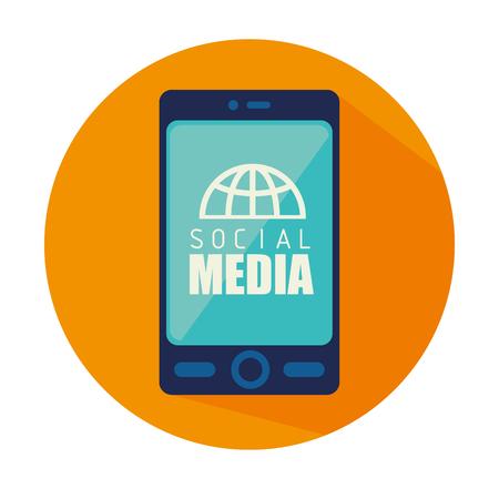 socializing: Social media design, vector illustration eps 10.