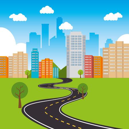 City urban design, vector illustration eps 10.
