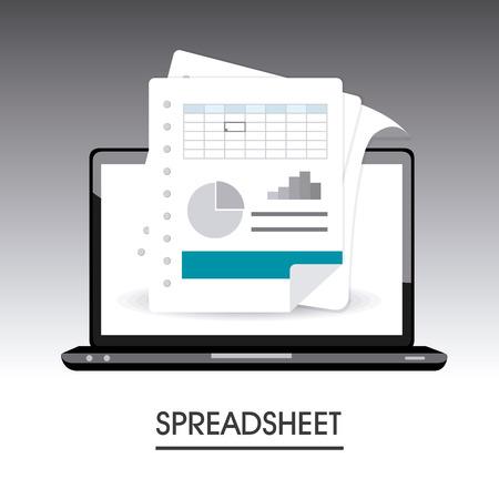 demographics: Spreadsheet digital design, vector illustration eps 10.