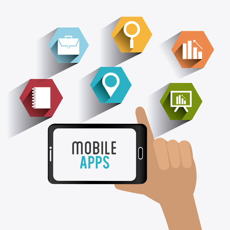 Mobile apps design, vector illustration eps 10. Illustration
