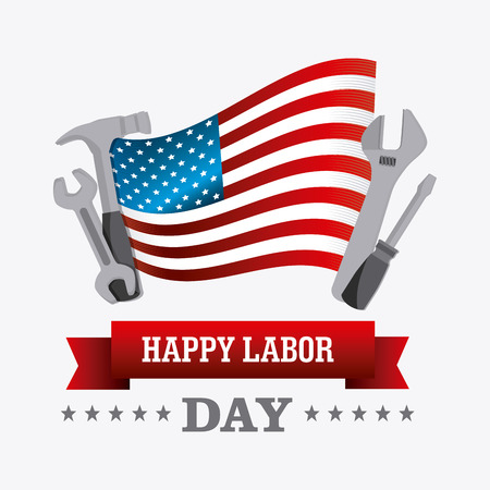 republican: Labor day card design, vector illustration eps 10.