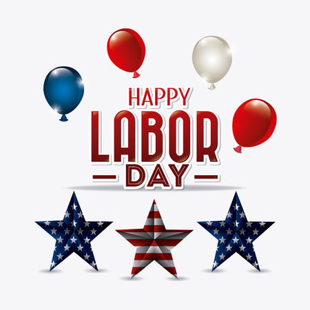 labour: Happy labor day card design, vector illustration eps 10.