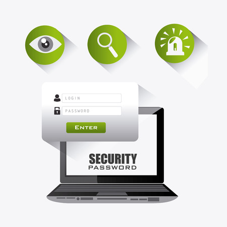 searh: Security system design, vector illustration eps 10.