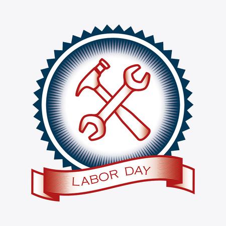 Happy labor day design, vector illustration eps 10. Illustration