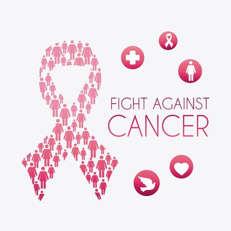 cancer ribbon: Breast cancer design, vector illustration eps 10.