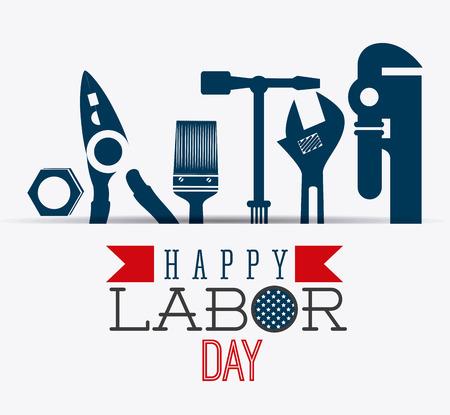 Happy labor day design, vector illustration eps 10. Stock Illustratie