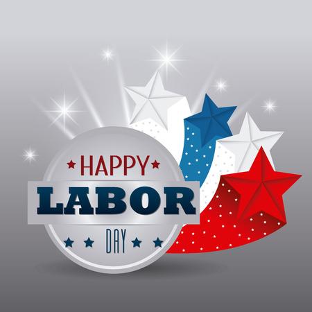 Happy labor day design, vector illustration eps 10. Ilustrace