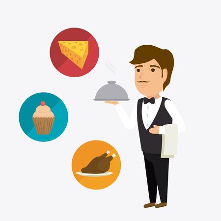 foreigner: Hotel service design, vector illustration eps 10. Illustration