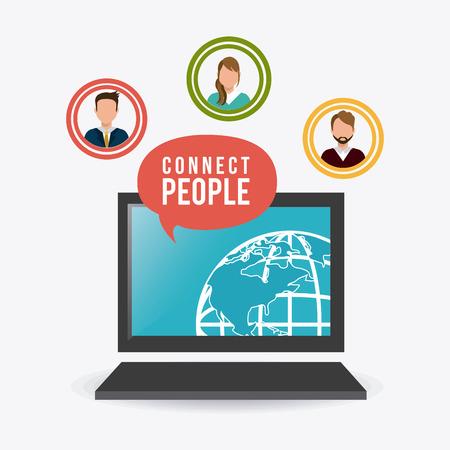 socializando: Conecte diseño de la gente, ilustración vectorial eps 10.
