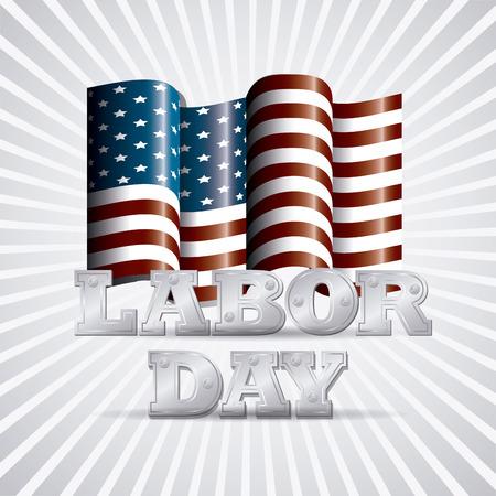 labor day: Happy labor day card design, vector illustration eps 10.