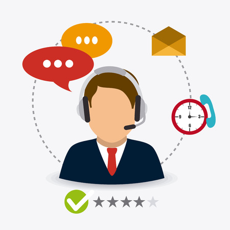 Customer service design, vector illustratie eps 10. Stockfoto - 43921229
