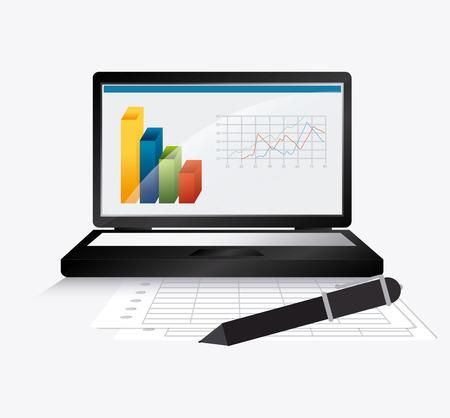 computer data: Spreadsheet digital design, vector illustration eps 10.