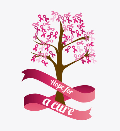 cancer ribbon: Breast cancer design, vector illustration eps 10.