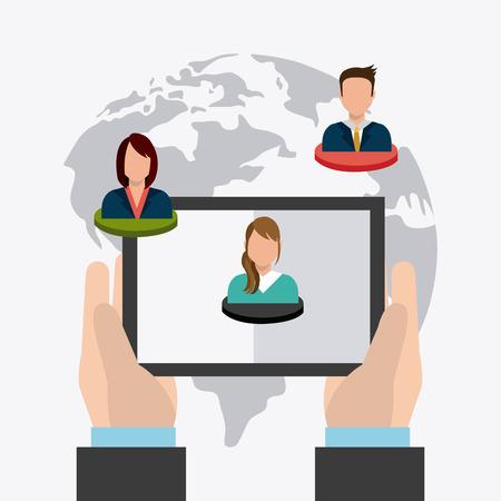 socializando: Connect people design, vector illustration eps 10. Vectores