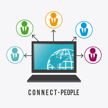 connect people: Connect people design, vector illustration eps 10. Illustration