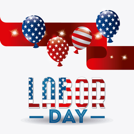 independence day america: Happy labor day design, vector illustration eps 10. Illustration