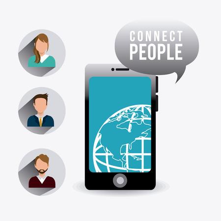socializing: Conecte dise�o de la gente, ilustraci�n vectorial eps 10.