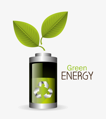 groene energie: Green energy design, vector illustration eps 10.