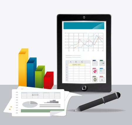 data: Spreadsheet digital design, vector illustration eps 10.