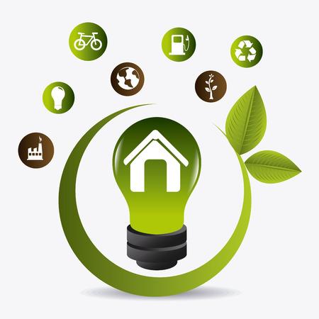green environment: Green energy design, vector illustration eps 10.