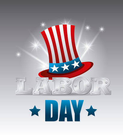 labor day: Happy labor day card design, vector illustration eps 10.