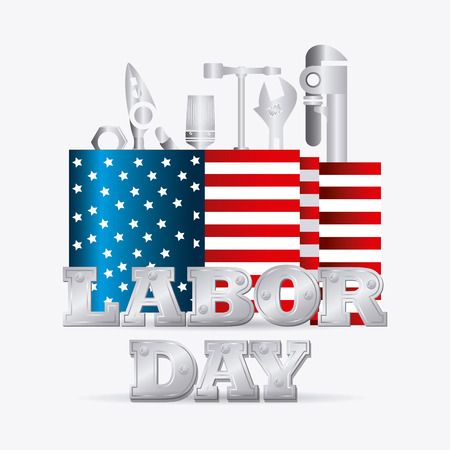 national freedom day: Happy labor day card design, vector illustration eps 10.