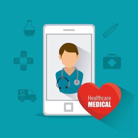 Medical healtcare design, vector illustration eps 10.