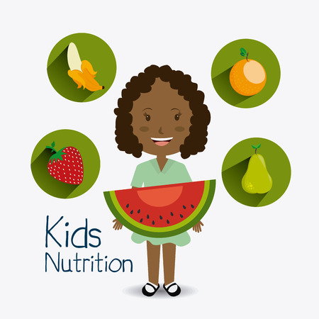 agro: Kids food design, vector illustration eps 10.