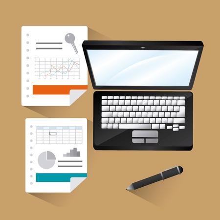 spreadsheet: Spreadsheet digital design, vector illustration eps 10.