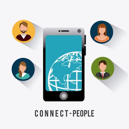 socializing: Connect people design, vector illustration eps 10. Illustration