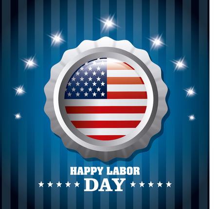labor: Labor day card design, vector illustration eps 10.