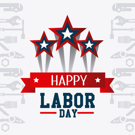 day to day: Labor day card design, vector illustration eps 10.