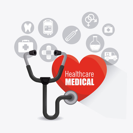 healtcare: Medical healtcare design, vector illustration eps 10.