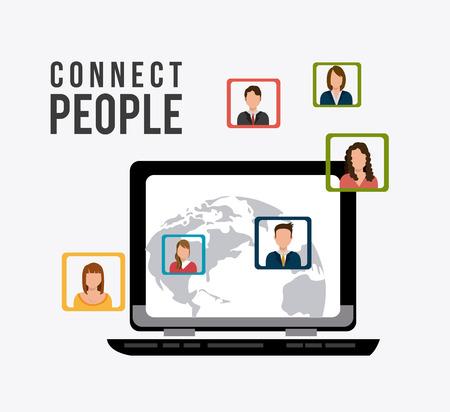 socialising: Conecte diseño de la gente, ilustración vectorial eps 10.