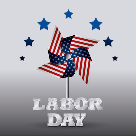 Happy labor day design, vector illustration eps 10. Ilustração